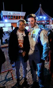 Dan with Jenson Button at 'The Dan Wheldon Charity Karting event'